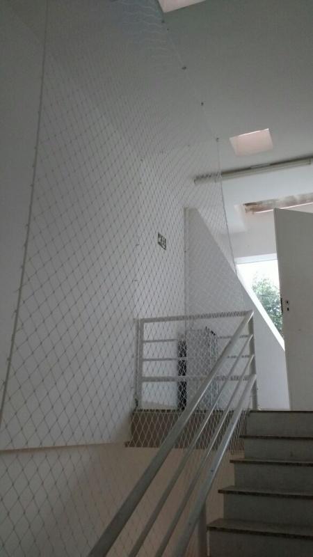 Redes de Proteção para Casas no Parque São Jorge - Rede de Proteção para Escada Caracol