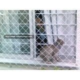 Rede de proteção para janelas no Jardim Santo Antônio