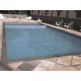 Rede de proteção para piscina no Parque da Mooca