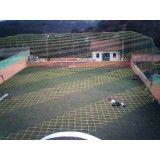 Rede em cima de campo na Vila Paulina